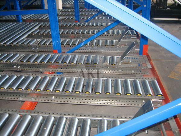 Flow Through Pallet Racking System